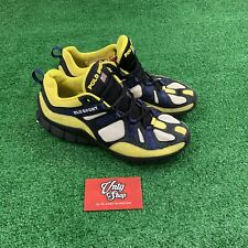 Rare Vintage Ralph Lauren Polo Sport Spell Out Yellow Blue Sneakers Size 9 US