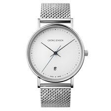 Georg Jensen 38mm Watch w/ White Dial & Steel Bracelet - Henning Koppel