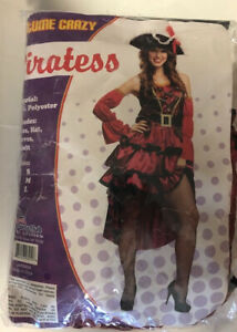 PartyClub of America Costume Crazy Piratessa Large (Dress, Hat, Sleeves & Belt)