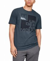 Under Armour Mens T-Shirt Gray Size 2XL Loose Crewneck Graphic Tee $25 #054