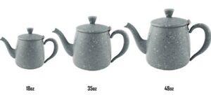 Grunwerg Café Olé Premium Teapot Grey Granite effect - 18/35/48oz