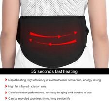Electric Heating Vibration Waist Belt Brace For Pain Relief Back Therapy Support