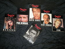Photo Book Max JamesDean, Madonna, Newman, Bowie, Connery, Sting 1990/1991