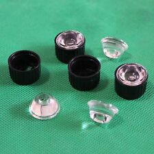 5pcs 60degree led Lens for 1w 3w LED holder black/White 20MM