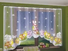 Very Nice Net Curtain Bunny Easter 300x150cm Window Decoration