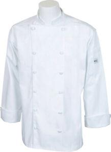 Mercer Renaissance Cutlery Men's Chef Jacket (Trad. Neck) | White, XS