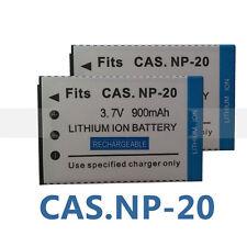 2X NP-20 NP-20DBA Batteries for Casio EX-Z77 Z60 Z65 Z70 Z75 S770 S880 Camera