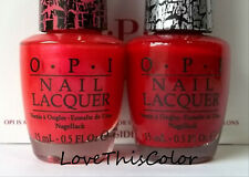 2 x Opi Nail Lacquer - Pink Shatter & Red Shatter - Crackle Lot