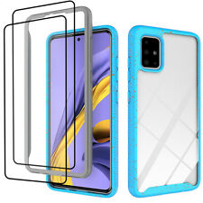 For Samsung Galaxy A51 A71 4G Case Shockproof Hybrid Cover +Full Tempered Glass