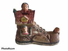 Antique House/Shoe Coin Bank Ceramic