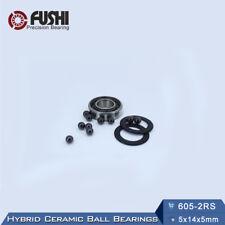 605-2RS (5x14x5 mm) Hybrid Ceramic Bearing Rubber Sealed Ball Bearings 605RS