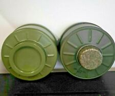 More details for new gas mask respirator canisters olive green
