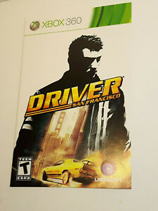 Driver San Francisco Xbox 360 INSTRUCTION MANUAL ONLY ! excellent condition