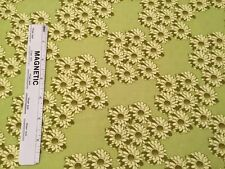 3 yd 26 in. Green Daisies Cotton Fabric -Tina Givens for Westminster Fibers TG19