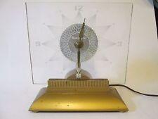 Vintage Art Deco MasterCrafters Starlight Model # 146 Starburst Clock Runs Great