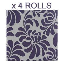 Purple Glitter Wallpaper Floral Embossed Vinyl Sparkle Paste The Wall x 4 Rolls