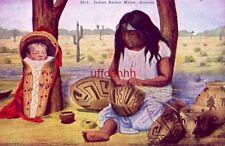 Indian Basket Maker, Arizona copyright H. H. Tammen Co.