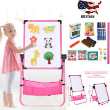 Double Sided Magnetic Children Kid Easel Storage Painting Whiteboard&Chalkboard