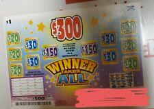 Winner takes All (1720 count Pull Tabs) Profit 💲4�⃣0�⃣0�⃣ (Casino/Bingo Ticket)