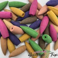 Back Flow MIXED Incense Cones BULLET Assorted Random Scent Burner India Holes UK