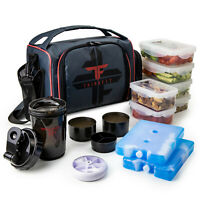 ThinkFit Insulated Meal Prep Lunch Box - 6 Portion Control Containers - BPA-F...