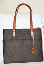 NWT Michael Kors Bedford 30S6GBFT3B Brown Large Pocket Tote