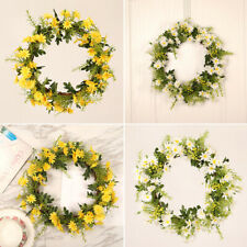 Realistic Simulation Rattan Sunflower Wreath Door Flower Wreath Home Decor