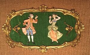 Italian Picture Frame Art 3D Image Figural Depose Italy Wall Plaque Ornate Gold