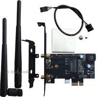 M.2/NGFF Wireless Card to PCI-e 1X Desktop WIFI WLAN CARD bracket for 8260 7265
