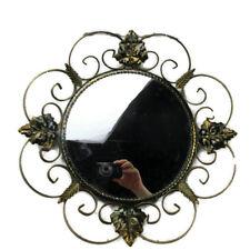 Retro Modernist Starburst Sunburst Metal Wall Convex Mirror Mid Century Modern