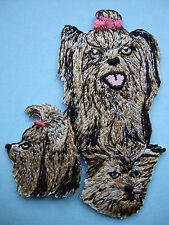 IRON-ON EMBROIDERED PATCH - YORKSHIRE TERRIER - MONTAGE -  DOG