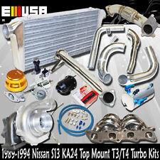 240sx KA24 Bolt on MANIFOLD + elbow+downpipe+ intercooler kits T3/T4 Turbo Kits