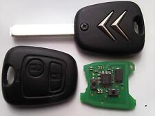 ORIGINALE Citroen C2 C3 C4 C5 PICASSO ECC. (tipo RF) 2 pulsante telecomando portachiavi non tagliato