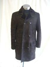 Ladies Coat - Unknown, size 10/12, brown suede, sheepskin lining, WARM - 2203