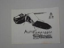advertising Pubblicità 1939 TENDA AUTO CAMPEGGIO ETTORE MORETTI