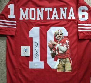 JOE MONTANA AUTOGRAPHED-HAND PAINTED PORTRAIT, 49ers Jersey. Beckett COA. WOW!!!