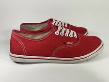 Vans Authentic Lo Pro Womens Size 6 Red Casual Shoes