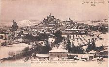 Carte postale, LE PUY en VELAY, Le Puy sous la neige, écrite au revers.