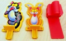 Milton Bradley Fraidy Cats Board Game Cats And Launcher Pieces Lot