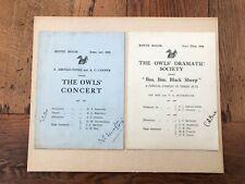 More details for 1933 & 4 cheltenham college - boyne house signed dramatic programmes