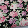 Rococo Roses 100% Cotton Canvas Soft Furnishing Japanese Fabric per metre