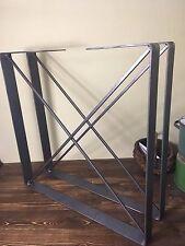 "1 set of Coffee Table Legs,Industrial Legs, 2.5"" Steel Flat Bar,Raw Steel Legs X"