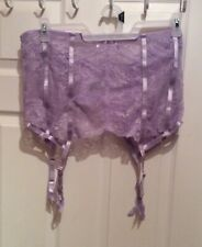 Oh La La Cheri Plus Size Lacy Garter Belt Lavender Sz 3X 4X