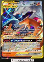 Carte Pokemon RESHIRAM ET DRACAUFEU 20/214 GX Escouade SL10 FR NEUF