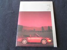 1993 Porsche 911 Press Kit 964 RS America Roadster Carrera 4 Media Info Brochure