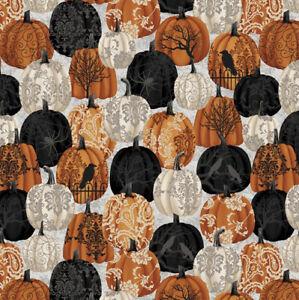 Fat Quarter Studio e's Spooky Night Halloween Pumpkin 100% Cotton Fabric