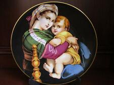 Haviland Limoges Madonna & Child by Raphael Vintage Collector Plate ~ 1972