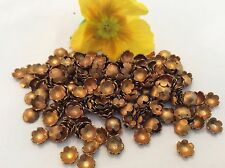 Bead Cap Vintage Brass No hole Flower shape 6-7mm CRAFT Pack of 50 Post Free