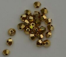 Swarovski Bicone Gold Aurum 3mm x 10 Bead