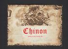 """CHINON (37) ETIQUETTE ANCIENNE de VIN """"G. LHOTE - TOURS"""" illustrée ANGE"""
